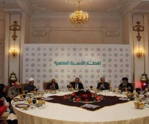 البابا تواضروس يشهد حفل إفطار الأسرة المصرية مع الرئيس السيسي