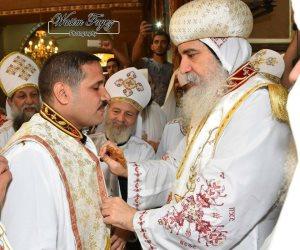 الكنيسة ترسم كاهن جديد بايبراشية بني سويف (صور)