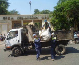 رفع 1050 طن مخلفات بناء وقمامة على جوانب طريق المنصورة الدائري