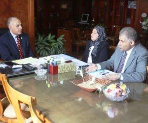 اجتماع وزير الري مع مدير عام صرف الدقهلية للإطلاع على نتائج المرور أثناء العيد