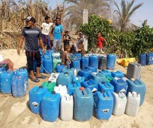 أرض الفيروز عطشانة.. أهالي شمال سيناء يصرخون من نقل المياه فى الجراكن بعد توقف ضخ الشبكات