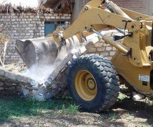 إزالة 190حالة تعدي على الأراضي أملاك الدولة في المنيا