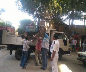 ضبط 77مخالفة إشغالات عامة و503 مخالفة مرورية في حملة أمينة بفارسكور (صور)