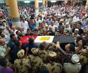 وصول السكرتير العام لمحافظة المنوفية لتشييع جثمان شهيدي «اشتباكات قويسنا»