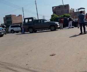 تشيع جنازة الشهيد أمين الشرطة في حادث البدرسين من بني سويف (فيديو)