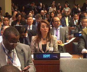 «غادة والي» تلتقي مندوبة الأردن بالأمم المتحدة لتنفيذ قرارات القضاء على الإرهاب