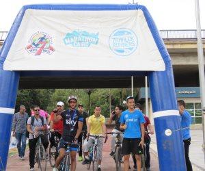 «اتحرك».. ماراثون لركوب الدراجات بمركز شباب الجزيرة (صور)