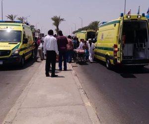 ارتفاع عدد المصابين بانقلاب أتوبيس سياحي بمرسى علم لـ 22 شخصا