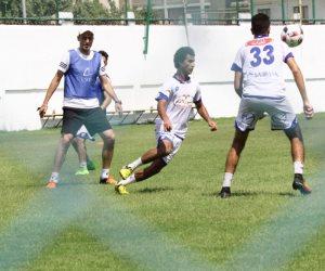 مران خفيف المستبعدين من مباراة أحد السعودى (صور)