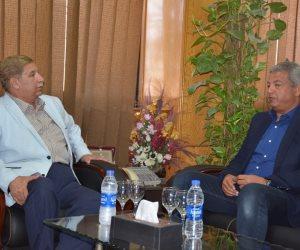 محافظ الإسماعيلية يستقبل عبدالعزيز  قبل زيارة فرع الإسماعيلي