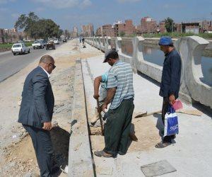 مساعد محافظ كفر الشيخ يتفقد أعمال شونة المرور وكورنيش الزاوية (صور)