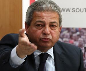 وزير الرياضة يحضر مران المنتخب باستاد برج العرب