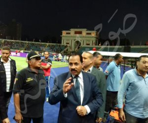 «النمر» يتفقد استاد الإسكندرية قبل انطلاق نهائي البطولة العربية (صور)