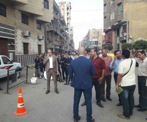 وصول مدير أمن المنوفية لتشييع جثماني شهيدي «قويسنا»