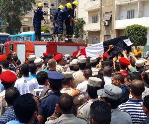 تشييع جثمان شهيد بورسعيد الملازم «عمرو السقا» في جنازة عسكرية مهيبة (صور)