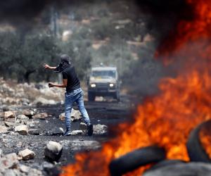 إصابة عشرات الفلسطينيين شرق قلقيلية فى مواجهات مع قوات الاحتلال