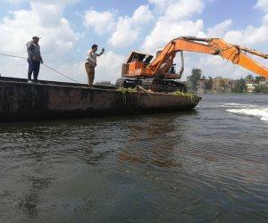 إزالة 28 قفص سمكي و28 تحويطة ومباني وأسوار بنهر النيل في كفر الشيخ (صور)