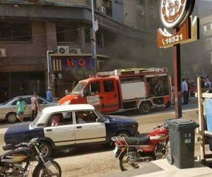 السيطرة على حريق داخل 3 محلات تجارية في حلوان دون إصابات