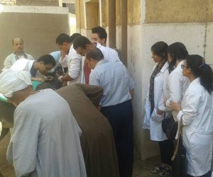 تنظيم حملة بيطرية بقرية مشطا في محافظة سوهاج وعلاج 85 حالة (صور)