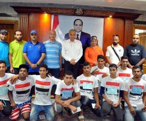 محافظ القليوبية يسلم الفائزين بماراثون الدراجات للشباب الجوائز
