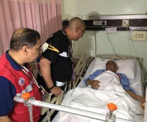 رئيس بعثة الحج الطبية يزور الحجاج المصريين المحتجزين بمستشفى النور بمكة