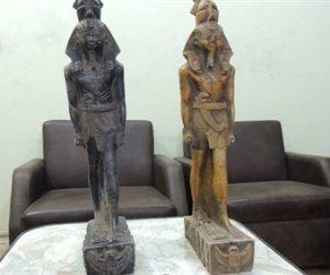 ضبط 264 تمثال يشتبه في كونهم قطع آثرية داخل منزل عامل بالمنيا