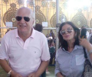 يسرا وليلي طاهر وميرفت أمين وعمر خيرت في عمومية الجزيرة