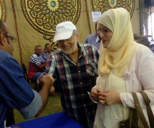 حسن يوسف وشمس البارودي في عمومية نادي الجزيرة (صور وفيديو)
