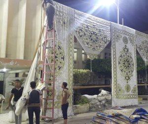 مساعد محافظ كفر الشيخ يتابع تجهيز ساحات الصلاة بدسوق (صور)