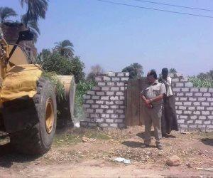 إزالة 10 حالات تعدي على الأراضي الزراعية في حملة مكبرة بدار السلام