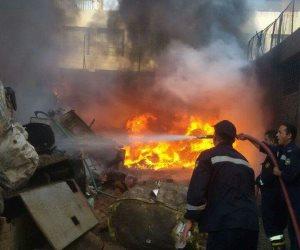نيابة الهرم تستمع لأقوال الشهود في حريق مصنع كابلات الهرم