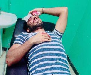 لاعب حرس الحدود ينجو من الموت بعد حادث سير (صور)