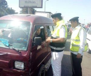 مرور الجيزة: ضبط 353 مخالفة بمدينة 6 أكتوبر .. وحجز 12 توك توك و15 دراجة بدون لوحات