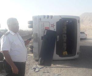 اصطدام ميكروباص بسيارة ربع نقل فى المحلة.. وإصابة 10 أشخاص