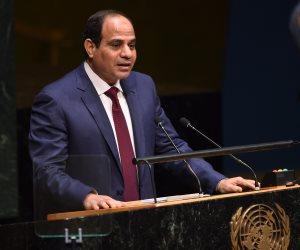 السيسي: لدينا في مصر إيمان عميقا بأهداف الأمم المتحدة