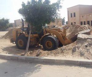 إزالة تعديات على 7 أفدنة وتحرير 1220محضر بكفر الشيخ