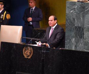 """السيسي لـ """"فوكس نيوز"""": فلسطين قضية القرن.. وحل الدولتين ضرورة"""