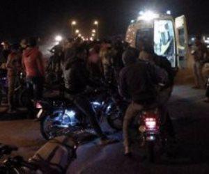إصابة 12 شخصا في حادث انقلاب سيارة مكروباص بطريق قنا - سوهاج الزراعي