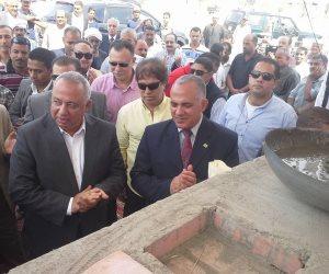 وزير الري ومحافظ الشرقية يضعان حجر الأساس لعدد من المشروعات في احتفال المحافظة بعيدها القومي