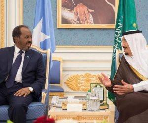اجتماع خادم الحرمين الشريفين ورئيس الصومال لبحث مستجدات الأوضاع فى المنطقة