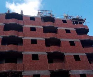 محافظة الإسكندرية توقف البناء المخالف وتتحفظ على مواد البناء بـ6 عقارات (صور)