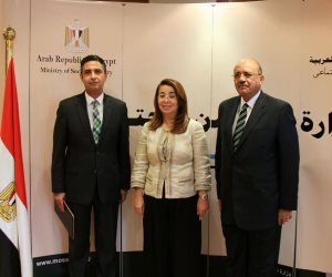 غادة والي تشهد توقيع بروتوكول تعاون بين بنك ناصر والقابضة للتشييد (فيديو)