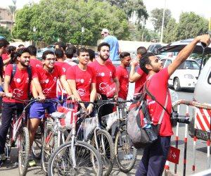 انطلاق ماراثون للجرى وركوب الدراجات بالهرم فى اليوم العالمى للقلب (صور)