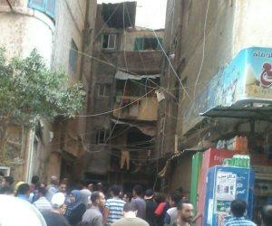 إصابة 4 اشخاص إثر سقوط بلكونة عقار في السيدة زينب