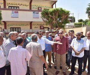محافظ أسيوط: العمل جارٍ في 29 مدرسة بديروط (صور)