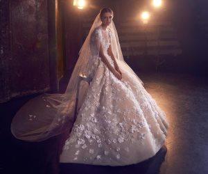"""مجموعة جديدة لفساتين الزفاف بلمسات وأناقة مصمم الأزياء العالمي """"إيلي صعب"""""""