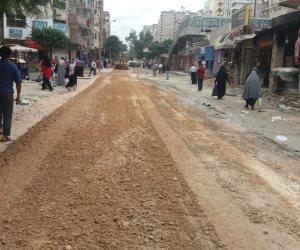 رصف شارع محمود شاهين بشبين الكوم في المنوفية بتكلفة 520 ألف جنية