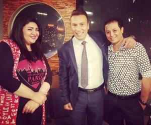 """حنان الخولي ومحمد جمال ضيفا محمد السماحي في """"الليلة"""" على الفضائية اليوم"""