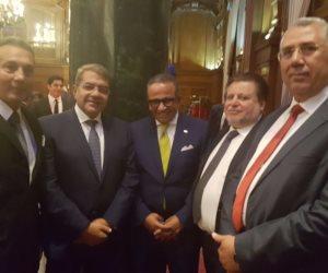 اتحاد بنوك مصر يقيم حفل استقبال بواشنطن بحضور طارق عامر