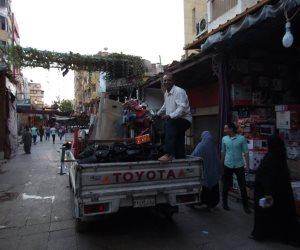 غلق وتشميع محلات بدون ترخيص في مصر الجديدة